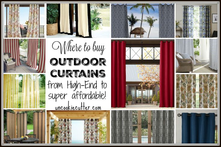 I've rounded up some options on where to buy outdoor curtains for your patio, pergolas and porches from cheap to high-end.