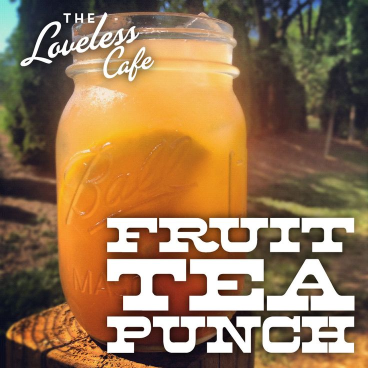 Fruit tea!  I like mine w/ pineapple juice instead of lemonade!  Goodness I miss the South!