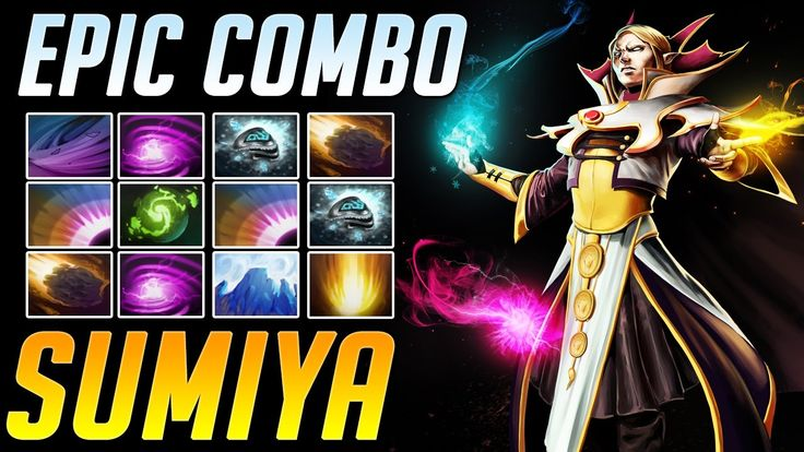 SumiYa - One of the Best INVOKER | Epic Refresher Combo with 10 skills |...