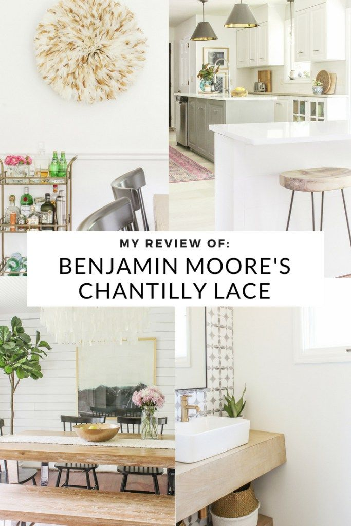 My Review of Benjamin Moore\'s Chantilly Lace - Best White Paint ...
