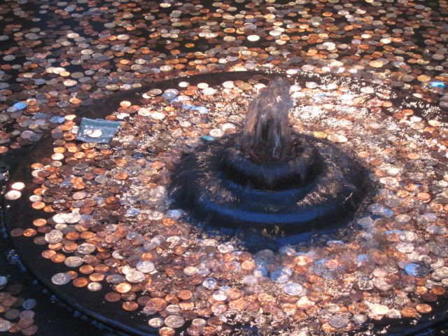 Penny fountain mall wishing fountain | coinage | Pinterest ...