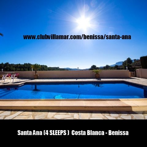 Santa Ana (4 SLEEPS )  Costa Blanca - Benissa