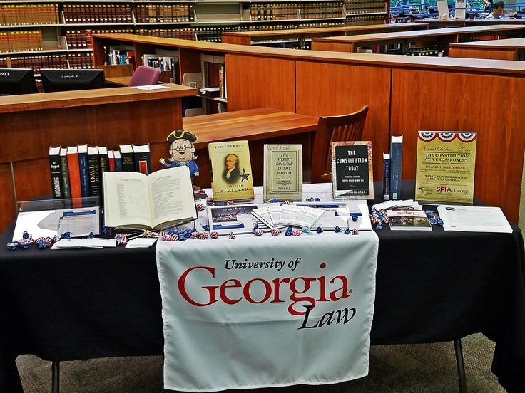 The University of Georgia School of Law King Library celebrates #ConstitutionDay! It's handing out pocket Constitutions to trivia winners and showcasing government publications. This University of Georgia library has been a GPO Federal depository since 1979. Get your copy of the pocket Constitution from GPO's Online Bookstore: https://bookstore.gpo.gov/products/sku/052-071-01545-1