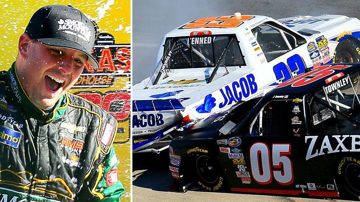 Johnny Sauter wins Martinsville Truck race; crash sparks furor