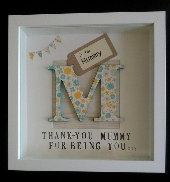Personalised Wooden Letter Picture on Etsy, $30.92