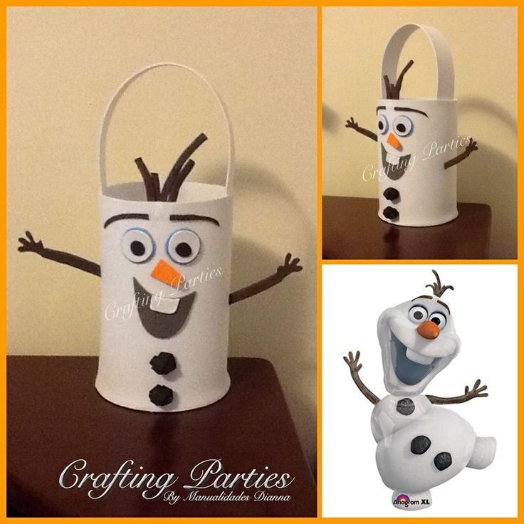 Olaf from the movie Frozen inspired favor bag. Made completly out of EVA Foam. To see more of my handmade creations or for pricing information, visit my fan page at www.facebook.com/CraftingPartiesByDianna or on Instagram @craftingparties