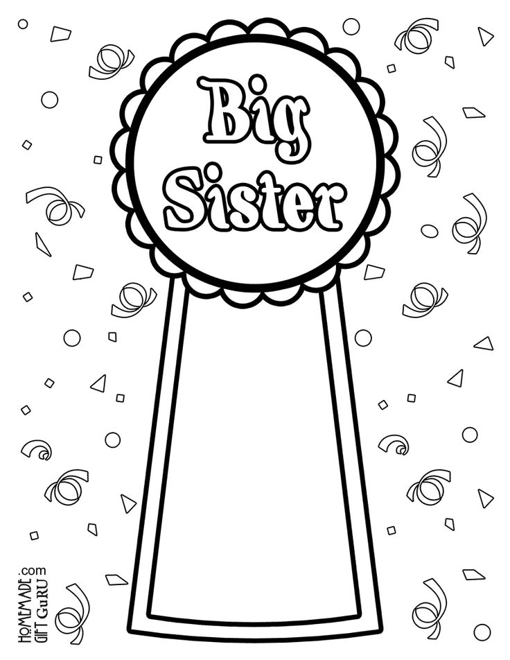 coloring book pages sisters | 8 best Big Sister images on Pinterest | Big sisters ...