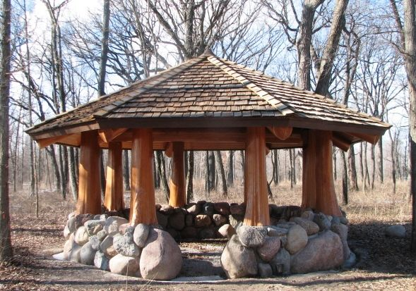 Log Gazebo In 2019 Garden Gazebo Gazebo Pergola