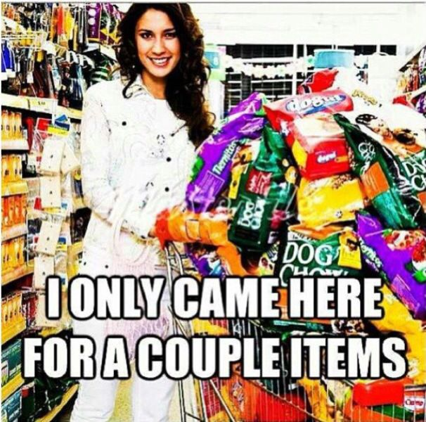 Cashier problems. Seriously people, I don't really care what you came in to get.