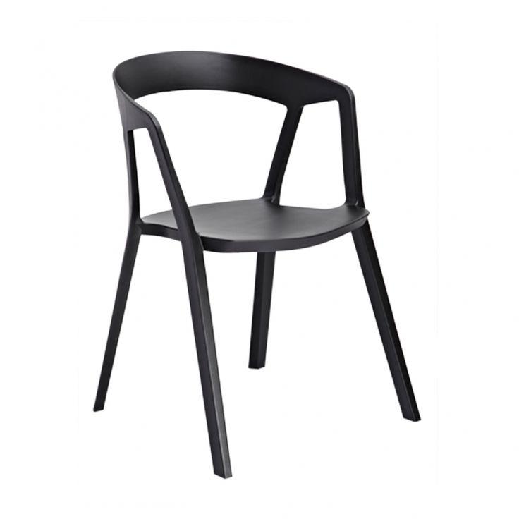 Krzesło Peach sztaplowane czarne