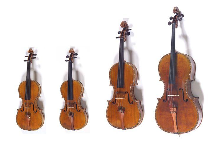 Cuarteto Palatino o Cuarteto Decorado.  Antonio Stradivarius. Palacio Real de Madrid