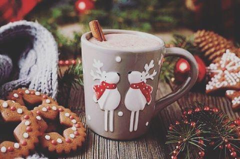 ☕#hotchocolate #warm #cute #cute #cookies #festive #christmastime #christmas