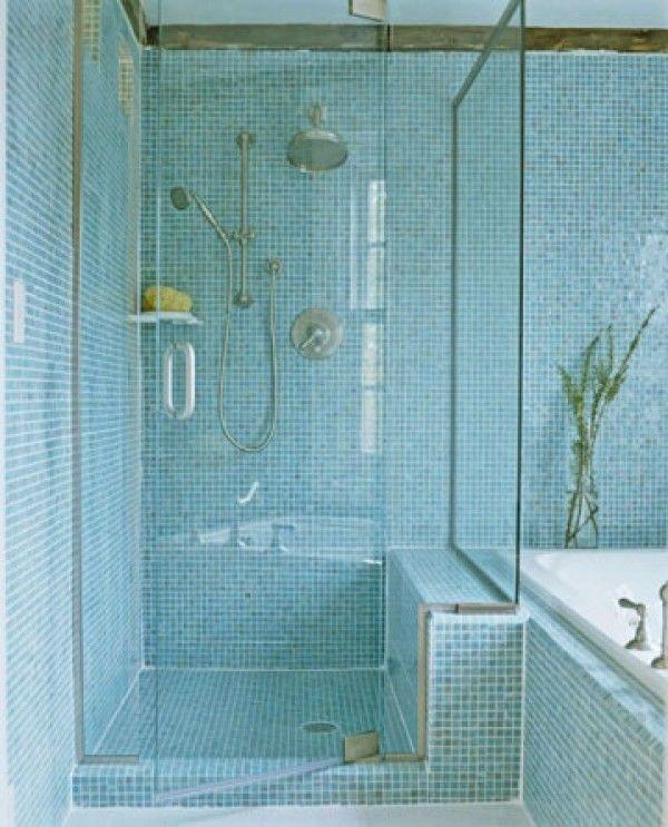 glass wallshelf for shower nonjacuzzi tub but small tile ledge