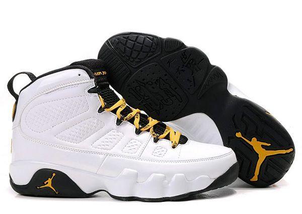 Air Jordan IX quot;Quai 54quot; retro shoes for men (White/Citrus ...