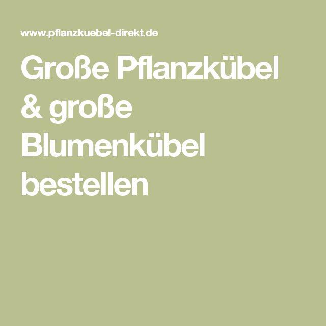 Unterschiedlich Die besten 25+ Große pflanzkübel Ideen auf Pinterest   Blumenkübel  TM98