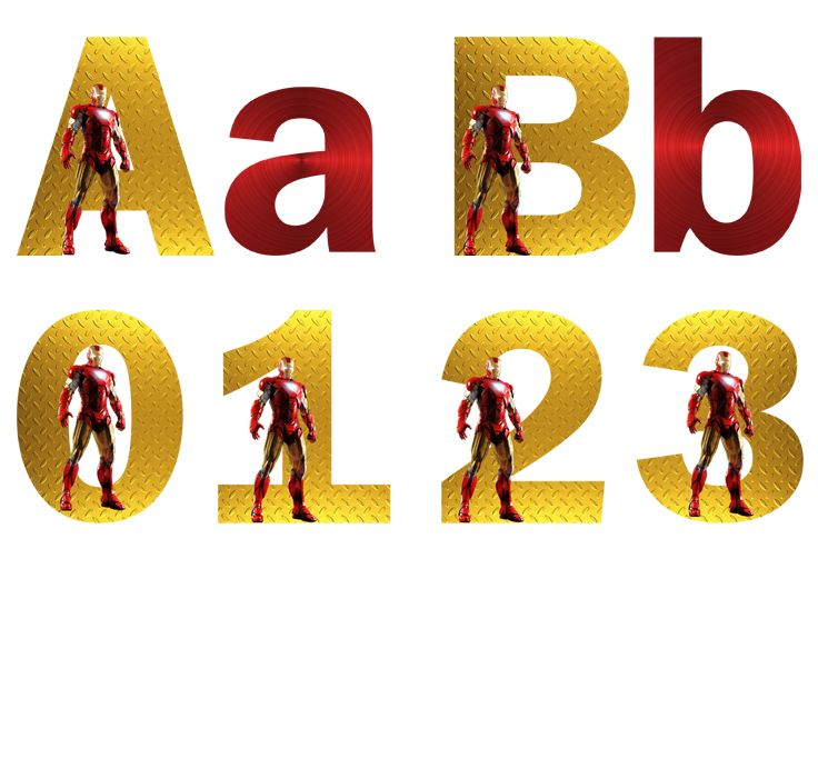 Iron Man Alphabet & Numbers - FREE PDF Download