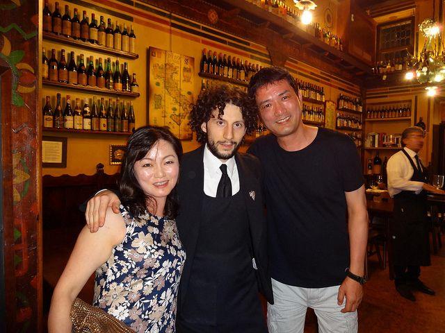 "Tomo e Yukari Mieda, dearest guests of the ""Bottega""."