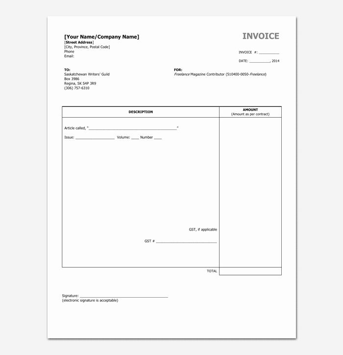 Freelance Writer Invoice Template New Freelance Invoice Template 5 For Word Excel Pdf Format Invoice Template Freelance Invoice Template Templates