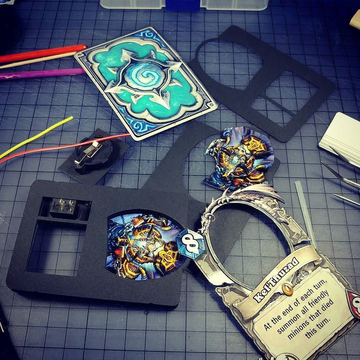 New card coming up!  #Hearthstone #cards #craft #3d #art #led