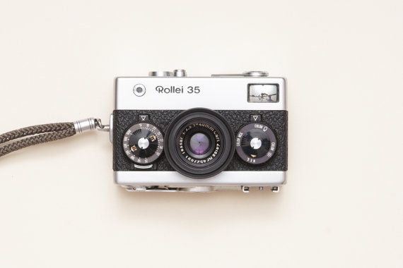 Rollei 35 Germany Film Camera with Carl Zeiss Tessar by ohsocult