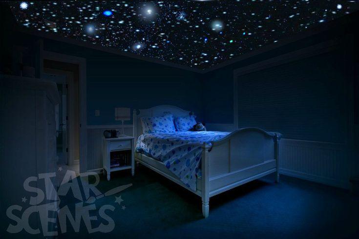 250x realistic glow in the dark stars DIY Star by StarScenes