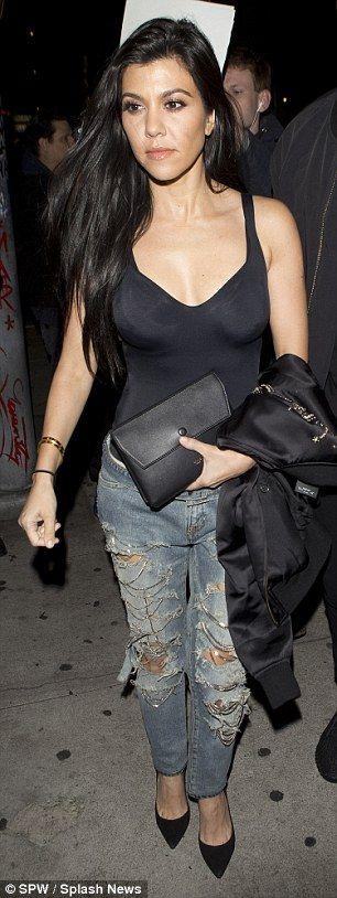 Kourtney Kardashian steps out to dinner with Corey Gamble