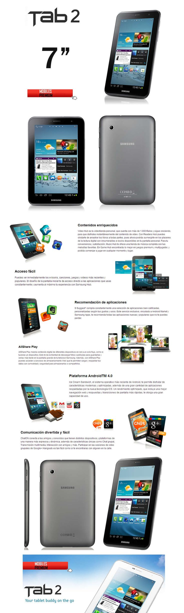 Comprar tablet samsung galaxy tab2 7.0 | venta de samsung galaxy tab 2 Argentina