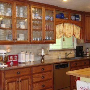 Wood Kitchen Cabinets With Glass Doors