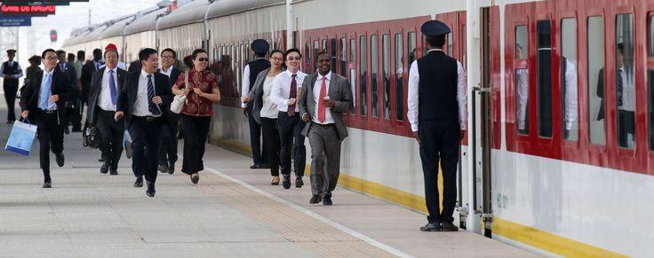 The Addis Ababa–Djibouti Railway built by China. Handout photo