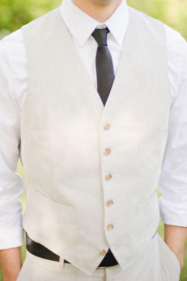 For the groomsmen, some brides and grooms choose to have them wear a vest such as this instead of a tux. Click on pin for Pinterest tips.