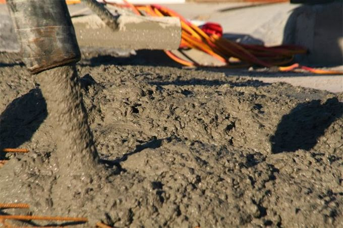 Properties of concrete mainly depend on the blending ratio of cement, sand, aggregates and water.