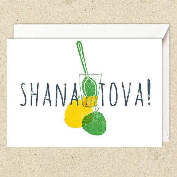 Four cards for Rosh haShanah от dvashh на Etsy
