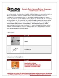 Guide to Central Venous Catheter Securement and Stabilization Devices-Download a printable copy of the Guide to Central Venous Catheter Securement and Stabilzation Devices resource - See more at: http://pedagogyeducation.com/Main-Campus/Resource-Library/Infusion/Guide-to-Central-Venous-Catheter-Securement-and-St.aspx?cmp=H14