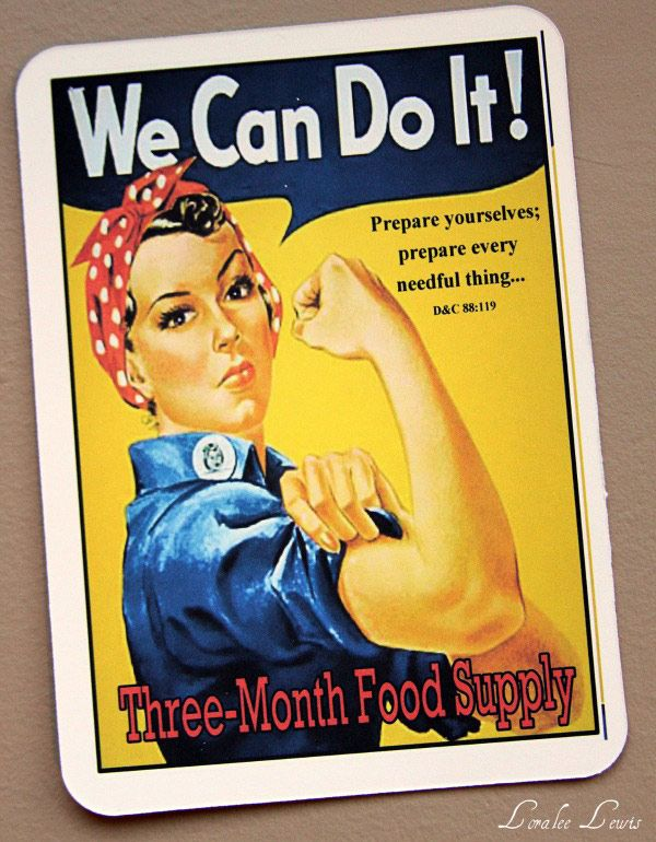 We Can do it Food storage handout