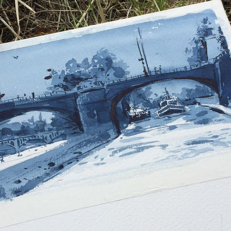 Bridge painting close up.