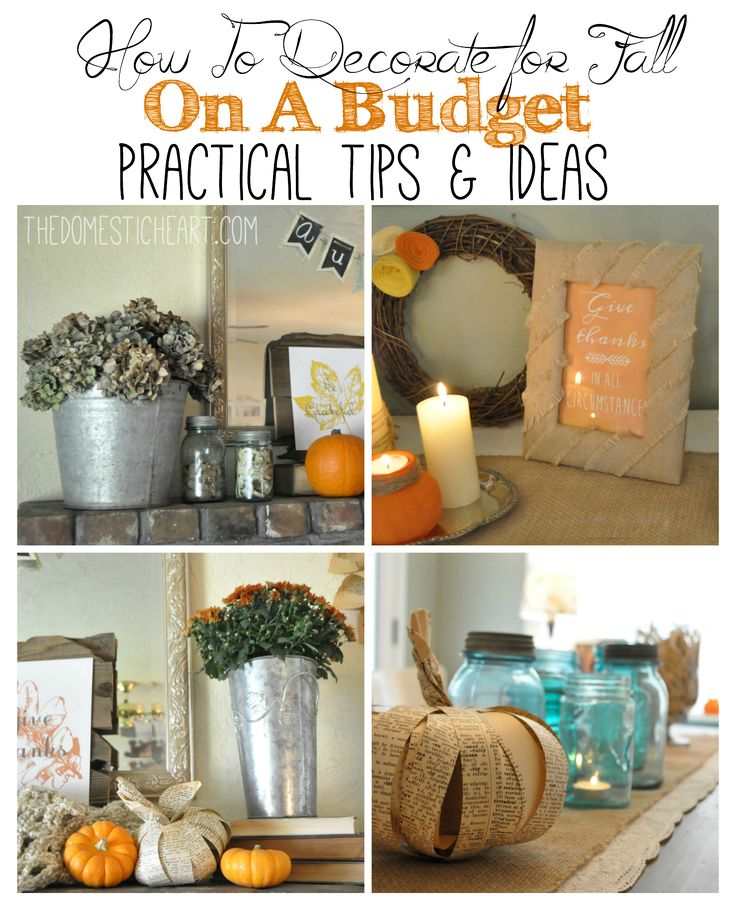 When you are on a budget, it isn't always easy to find ways to decorate your home. If you love to decorate for fall but don't have a lot to spend, you will love this series about decorating for fall on a budget! This post will show you how to decorate on a tight budget