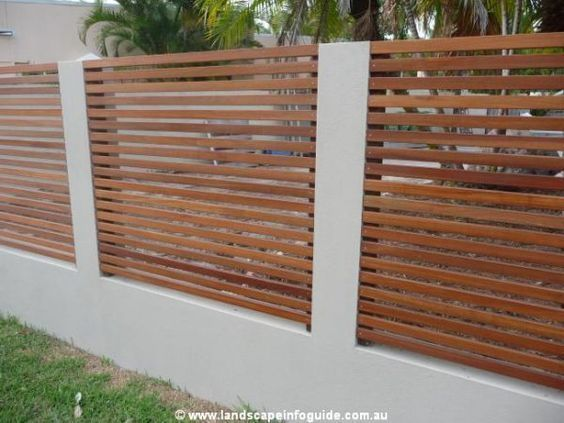 Image Result For Brick Wooden Fence And Electric Gates