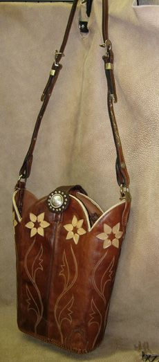 -old cowboy boots >> new purse!