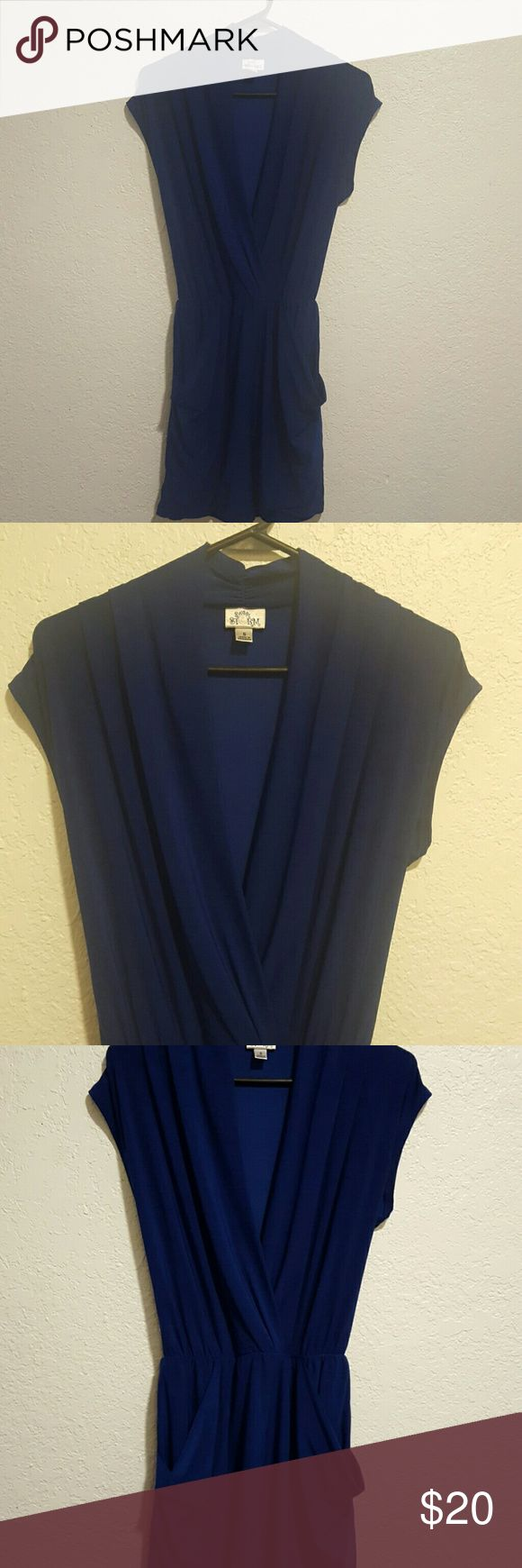 Small royal blue dress great dress w/pockets  to dress up or play down with scarf &/or w/leggings  smoke and pet-free home Dresses Mini