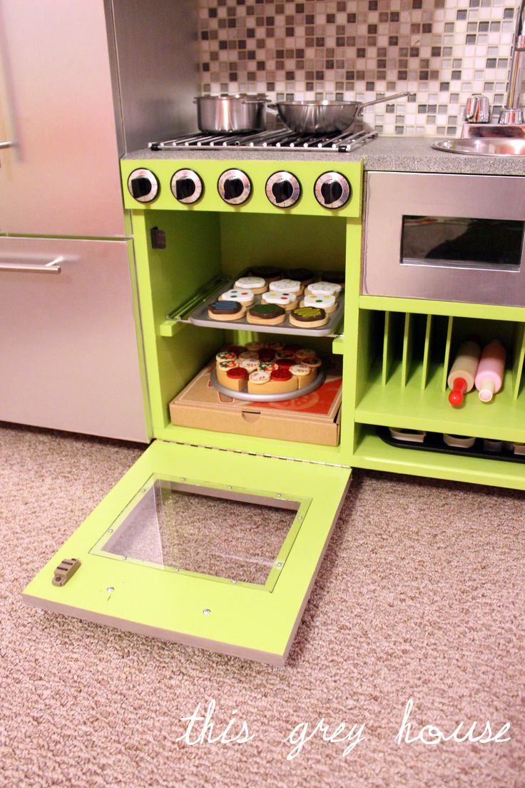 251 best images about play kitchens and fake food on pinterest for Fake kitchen set