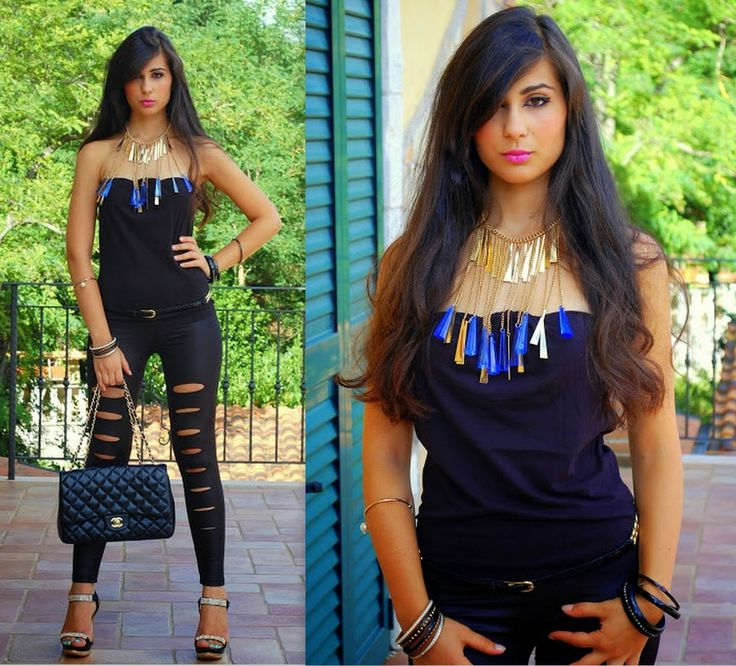 """♥ this look on whatiwear.com by VERONICA_MICIA """"TOTAL BLACK & GOLDEN"""" http://www.whatiwear.com/look/detail/132185"""
