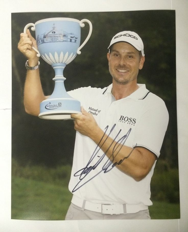 Henrik Stenson Signed Pga Tour Golf 8 X 10 Photo Autographed
