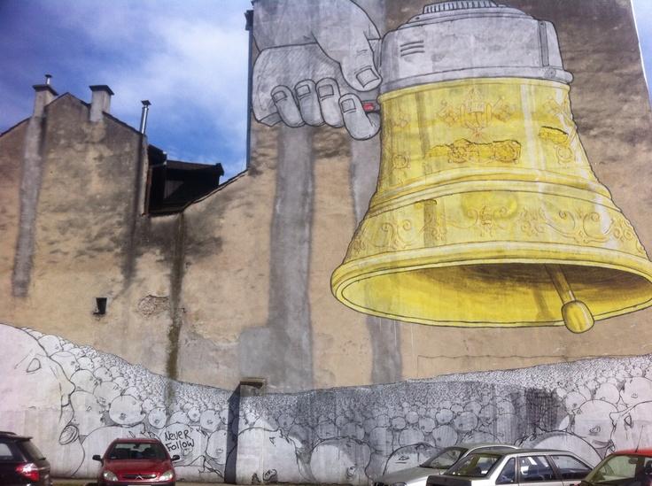 Church bell #streetart #mural #Kraków @Mayamural Kraków 2012 Kraków 2012