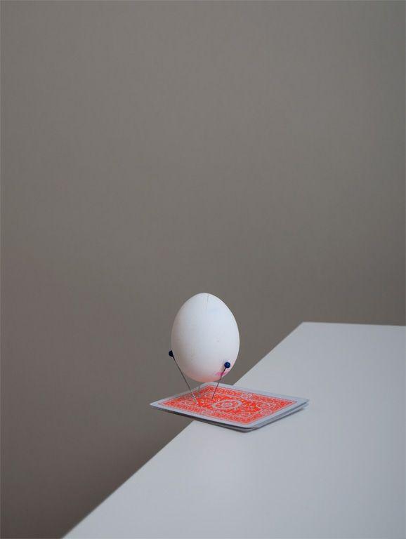 Egg on pins by Csilla Klenyánszki