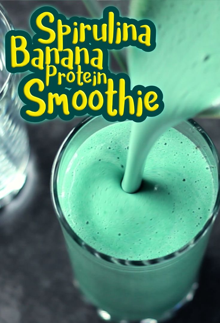 Vegan Protein Spirulina Shake! Boost your body and your mind with a delicious nourishing shake now! YUMMY!