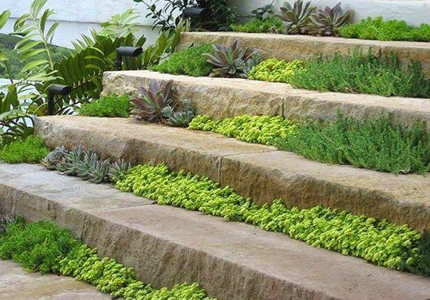 Садовые лестницы, дизайн, фото