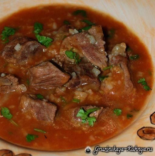 Как приготовить грузинский суп харчо из говядины (7)