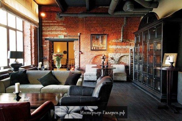 Красивые интерьеры в стиле ЛОФТ, характерные черты лофт, отделка интерьера, мебель и декор в стиле лофт. Дизайн интерьера,…