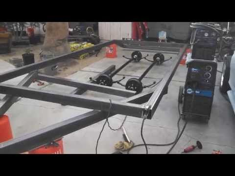 Build a DIY Utility Trailer for $300 - Part 1 - YouTube | Welding Projects in 2019 | Diy camper ...