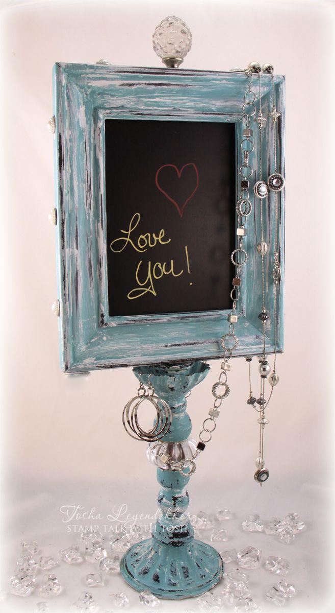 I ♥ this!!!  Stamp Talk with Tosh: Chalkboard Display Stand @Tosha Leyendekker